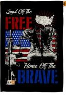 Home Of The Brave Decorative House Flag