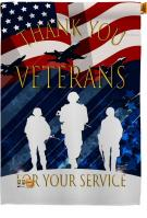 Thank You Veterans Decorative House Flag