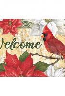 Christmas Cardinals Mat