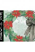 Holly Wreath Mat