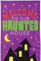 Haunted House Double Applique Banner