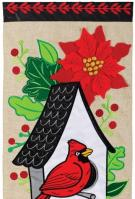 Cardinal Birdhouse Double Applique Banner