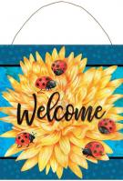 Ladybug Life Metal Wall Sign