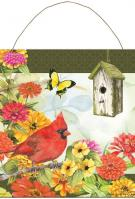 Cardinal Birdsong Metal Wall Sign