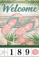 Beach Welcome Garden Address Flag