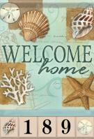 Beach Shells Garden Address Flag