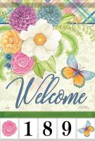 Bright Welcome Garden Address Flag
