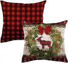 Woodland Christmas Outdoor Pillow