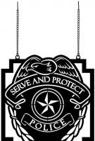 Serve & Protect Metal Garden Flag