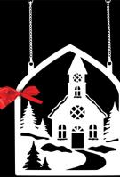 Christmas Church Metal Garden Flag