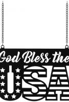 God Bless The USA Metal Garden Flag