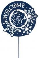 Snowflake Welcome Garden Stake/Wall Hanger