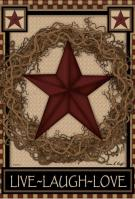Star Wreath Garden Flag