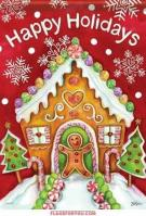 Gingerbread Holiday House Flag
