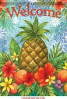 Tropical Pineapple Garden Flag