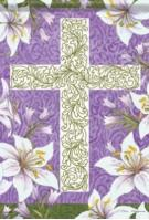 Easter Cross Garden Flag