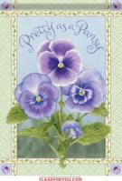 Pretty Pansy House Flag