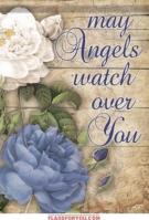 Angels Watch Over Garden Flag