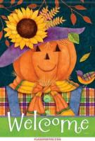 Scarecrow Pumpkin House Flag
