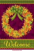 Leaves Wreath House Flag