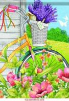 Bicycle Basket Garden Flag