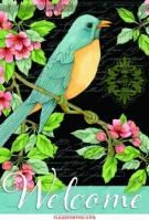 Garden Bluebird House Flag