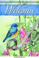 Bluebird On Gate Garden Flag