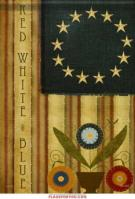 Homespun America Garden Flag