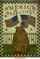 America / Bee-Utiful Garden Flag