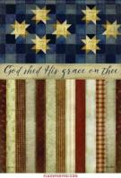 God Shed His Grace Garden Flag