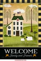 Country Welcome Garden Flag