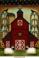 Welcome Barn Garden Flag