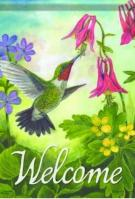 Hummingbird Morning Garden Flag