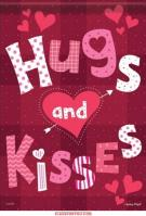 Hugs & Kisses Dura Soft Garden Flag
