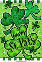 Happy Shamrocks Dura Soft House Flag