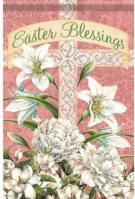 Easter Blessings Cross Dura Soft Glitter Garden Flag