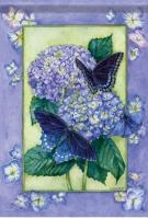 Blue Beauty Dura Soft Garden Flag