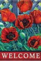 Scarlet Poppies Dura Soft Garden Flag