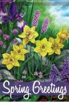 Spring Flowers Dura Soft House Flag