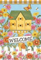 Country Birdhouse Dura Soft Garden Flag