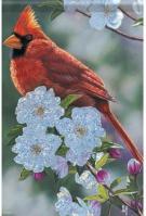 Springtime Cardinal Dura Soft House Flag