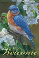 Bluebird Blossoms Dura Soft Garden Flag