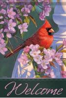Evening Light Cardinal Dura Soft Garden Flag