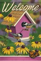 Chickadee House Dura Soft Garden Flag
