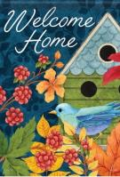 Birdhouse & Berries Dura Soft Garden Flag