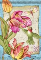 Tulips & Hummingbird Dura Soft Garden Flag