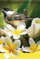 Blossoming Chickadee Dura Soft Garden Flag