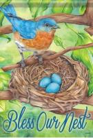 Bluebird Blessings Dura Soft House Flag
