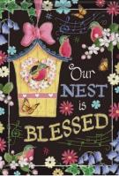 Blessed Birdhouse Dura Soft Garden Flag