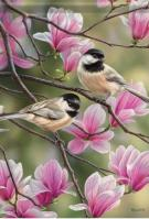Springtime Chickadees Dura Soft House Flag